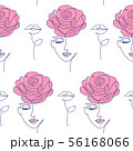 pattern with woman face 56168066