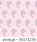 pattern with woman face 56172236