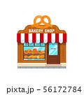 Bakery store in flat style 56172784