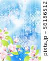 年賀状桜イメージテンプレート 56186512