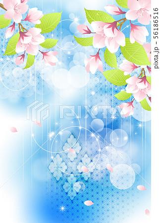 年賀状桜イメージテンプレート 56186516