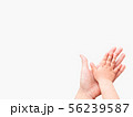Hands of adult and child. Mother and kid 56239587