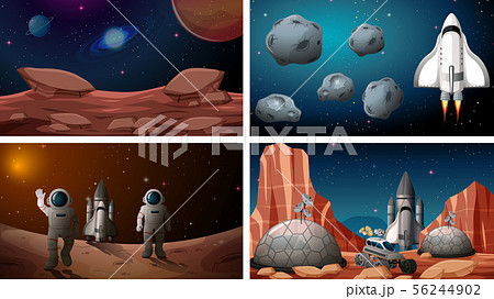 Set of space backgrounds 56244902