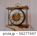 Old soviet table clock with mechanical winding 56277497