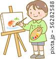 絵を描く男の子 56282588
