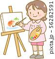 絵を描く女の子 56282591