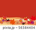 紅葉の背景素材 56384404