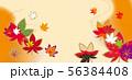 紅葉の背景素材 56384408