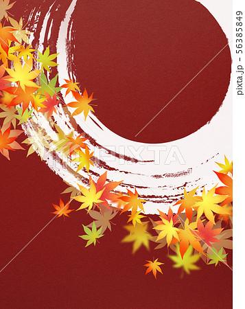 背景-和-和風-和柄-和紙-紅葉-筆勢-秋 56385849
