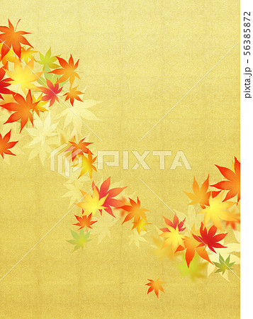 背景-和-和風-和柄-和紙-紅葉-金箔-秋 56385872