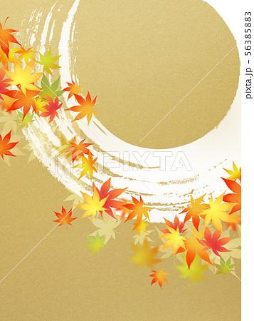 背景-和-和風-和柄-和紙-紅葉-筆勢-金箔-秋 56385883