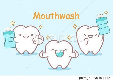tooth with mouthwash 56401112