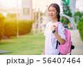 Asian Thai teenager school girl with education bag 56407464