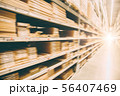 blur speed moving of warehouse storage inventory 56407469