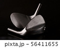 Forged Sand Wedges Heads on a Black Background 56411655