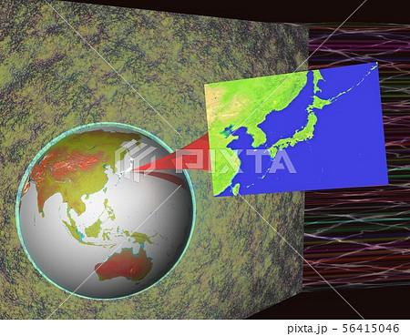 地球 クローズアップ日本 コピースペースのイラスト素材 [56415046 ...