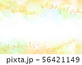 音符と秋のイメージ背景(水彩タッチ) 56421149
