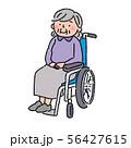 認知症 車椅子 高齢者 イラスト 56427615