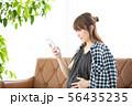 女性 妊娠 妊婦の写真 56435235