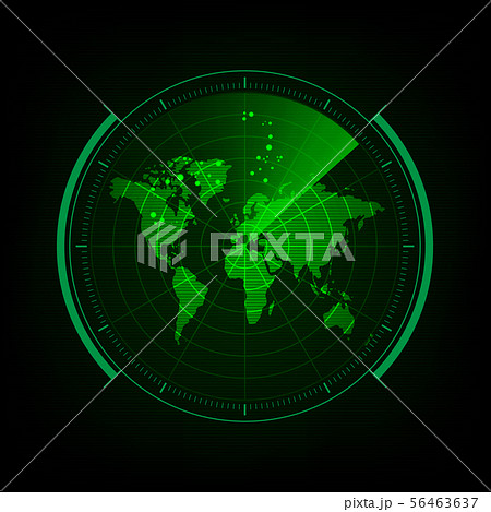 Radar screen with futuristic user interface and 56463637