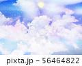 星空に浮かぶ雲と満月 56464822