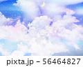 星空に浮かぶ雲と新月 56464827