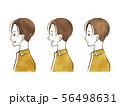 男性-表情(横顔) 56498631