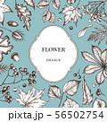 Badge over design with rowan, rowan, acorn, buckeye, fern, maple, birch, maple leaves, lagurus 56502754