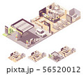 Vector isometric gas station interior 56520012