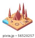 Vector isometric campsite in autumn 56520257