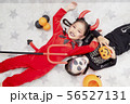 Asian child girls in halloween costumes 56527131