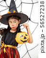 Happy Halloween little witch with a pumpkin 56527238