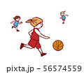 バスケットボール ドリブル 56574559