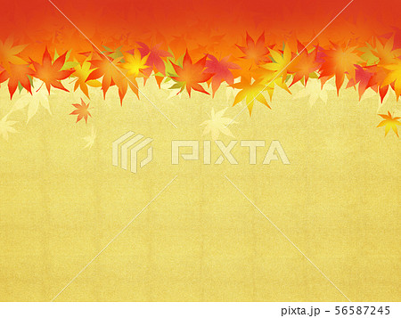 背景-和-和風-和柄-和紙-紅葉-金箔-秋 56587245