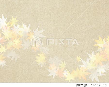 背景-和-和風-和柄-和紙-紅葉-秋 56587286