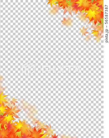 背景-和-和風-和柄-和紙-紅葉-秋 56587387