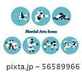 格闘技種目のアイコンセット 56589966