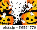 ハロウィン かぼちゃ コウモリ おばけ ポストカード 56594779
