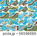 Set of aerial view scenes 56596060