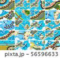 Set of aerial view scenes 56596633