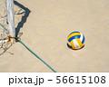 ビーチバレー 砂浜 ボール 56615108