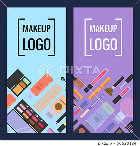 Vector makeup brand banners or flyers 56620134