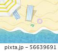リゾート-夏-ビーチ-サンダル-浮き輪 56639691