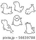 vector set of sea lion 56639788