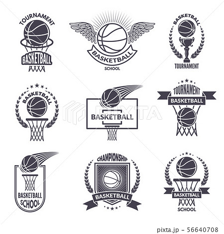 Sport labels for basketball club. Vector badges for champions 56640708