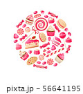 Sweet candy. Chocolate bars, lollipop bonbon and marmalade candied fruit, caramel candies kids 56641195