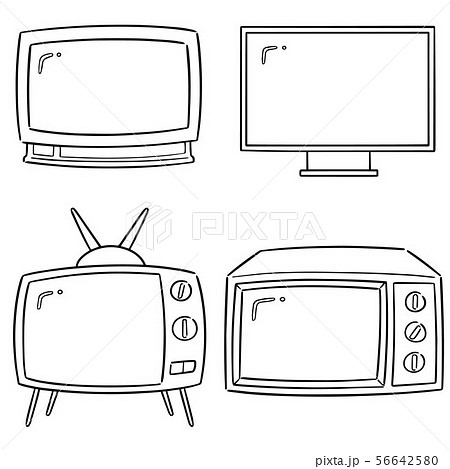 vector set of television 56642580