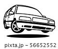 懐かしめワゴン ジャンプ ぬりえ風 自動車イラスト 56652552
