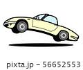 ブリティッシュライトウェイトオープンカー ジャンプ 自動車イラスト 56652553