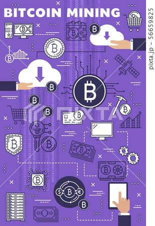 Cryptocurrency bitcoin mining, crypto blockchain 56659825